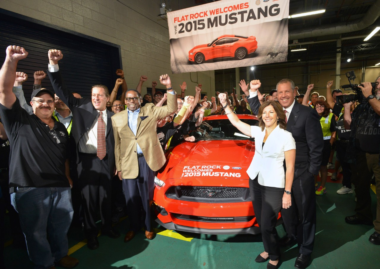 Ford Factory Flat Rock starts production of 2015 Mustang 01